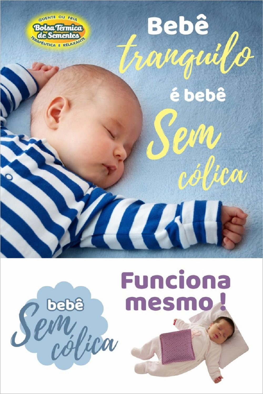 Almofada Térmica de Ervas Bebê sem Cólica - Urso Azul sem Cinta