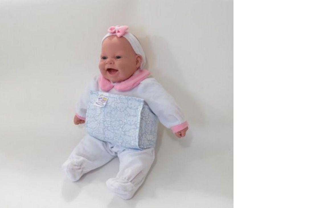 Almofada Térmica de Ervas Bebê sem Cólica - Urso Azul com Cinta