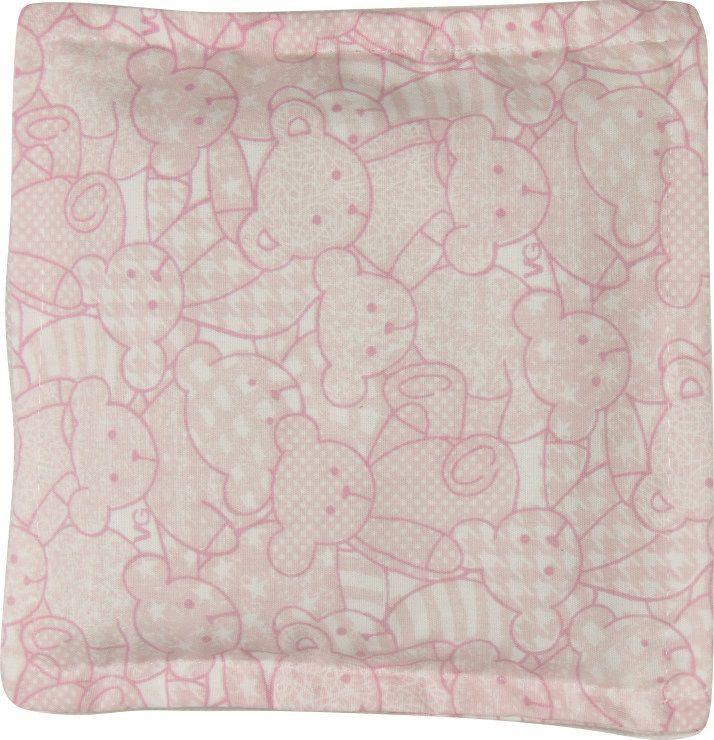 Almofada Térmica de Ervas Bebê sem Cólica - Urso Rosa