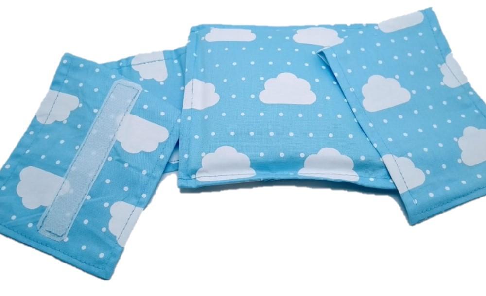 Almofada Térmica de Sementes Nuvem Azul - Bebê Sem Cólica