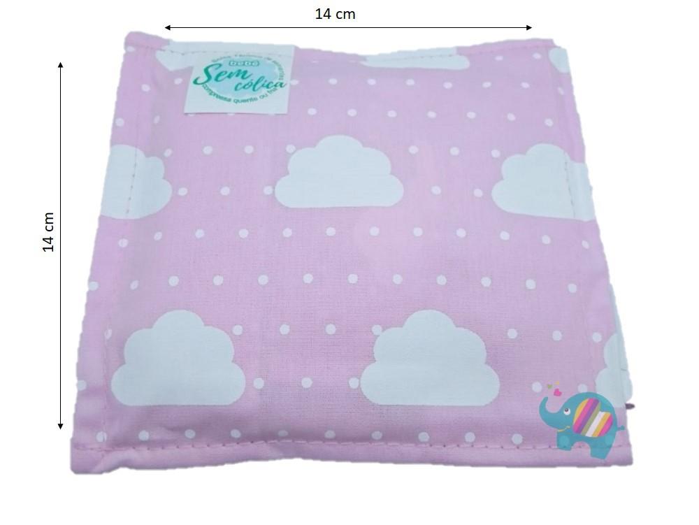 Almofada Térmica de Sementes Nuvem Rosa - Bebê Sem Cólica