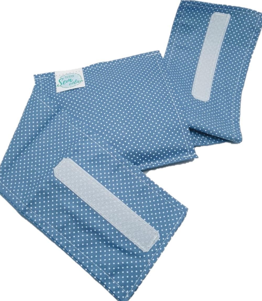 Almofada Térmica de Sementes Poa Azul - Bebê Sem Cólica