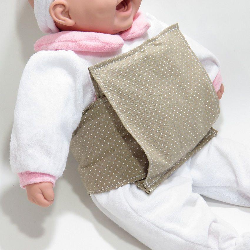 Almofada Térmica de Sementes Poa Bege - Bebê Sem Cólica