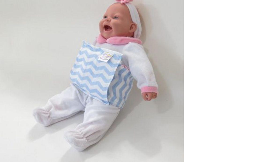 Almofada Térmica Ervas Naturais Bebê sem Cólica - Relevo Azul com Cinta