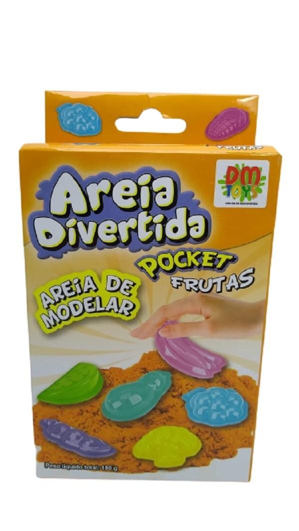 Areia de Modelar / Areia Divertida Pocket Animais - DM Toys