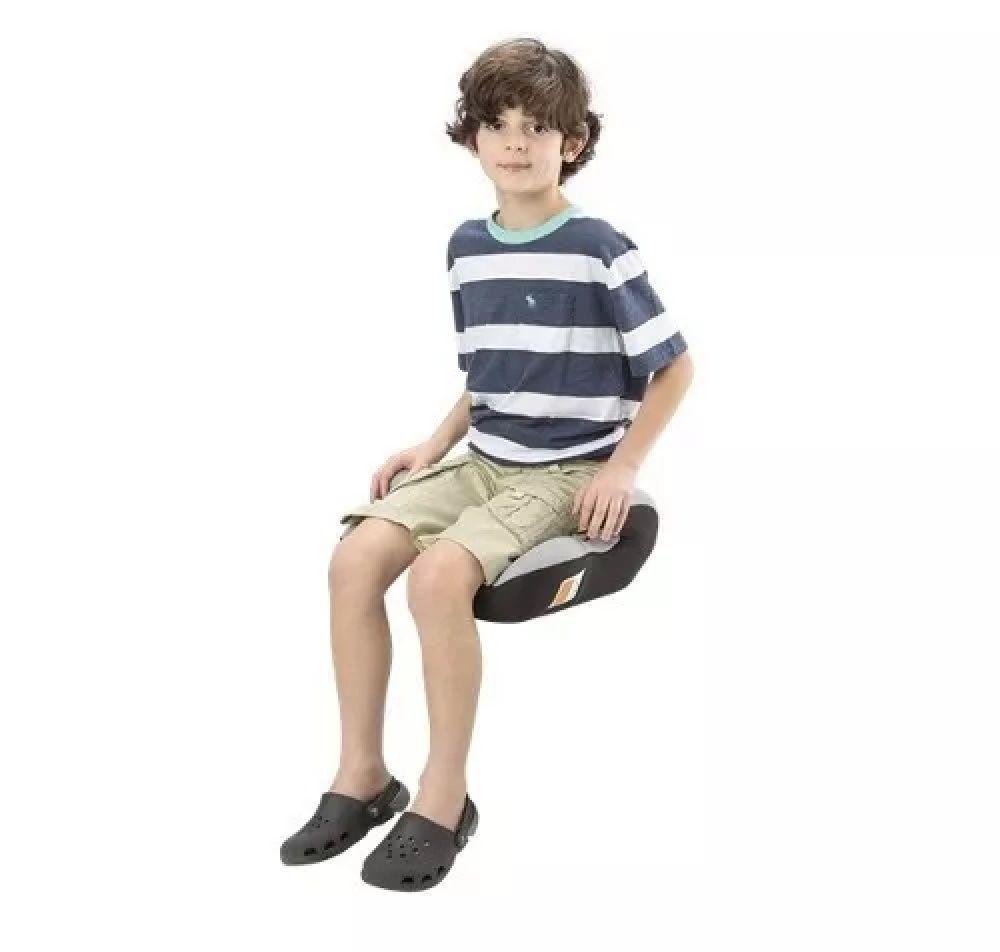 Assento Infantil Cinza para Auto Safe Booster 22-36 kg - Multikids