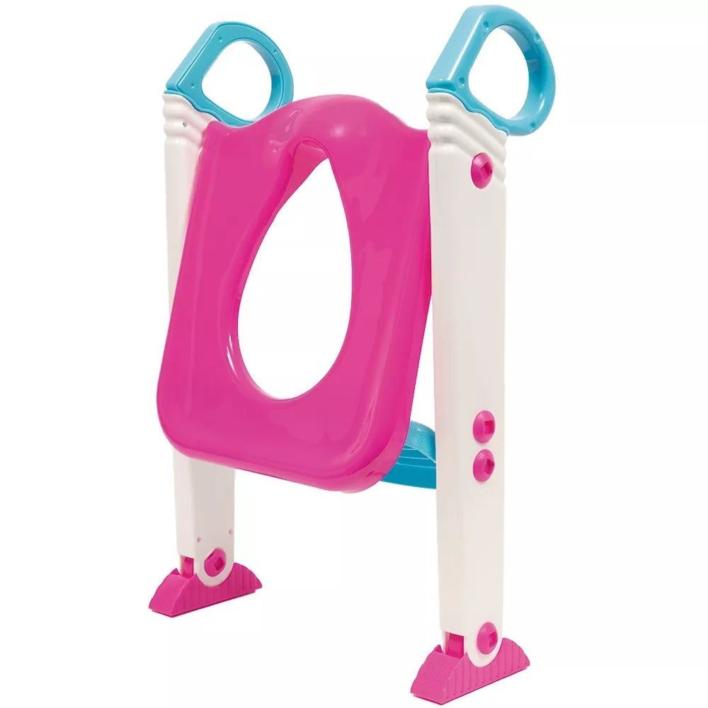 Assento Redutor com Escada para Desfralde Rosa - Buba Baby