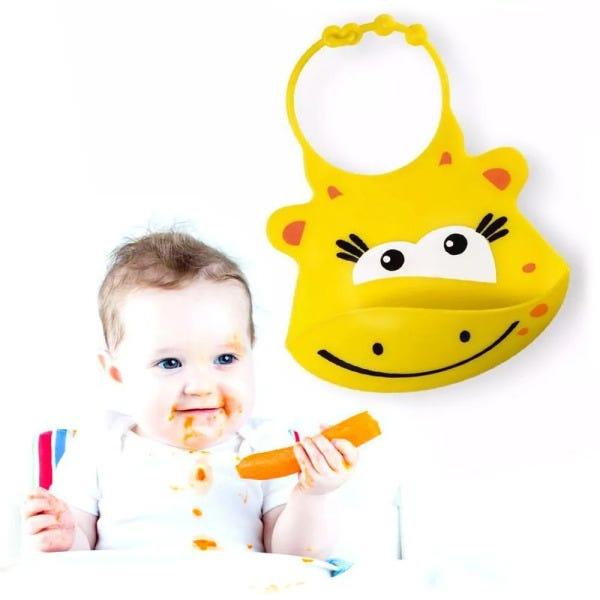 Babador de Silicone de Bebe Impermeável Girafa - Multikids