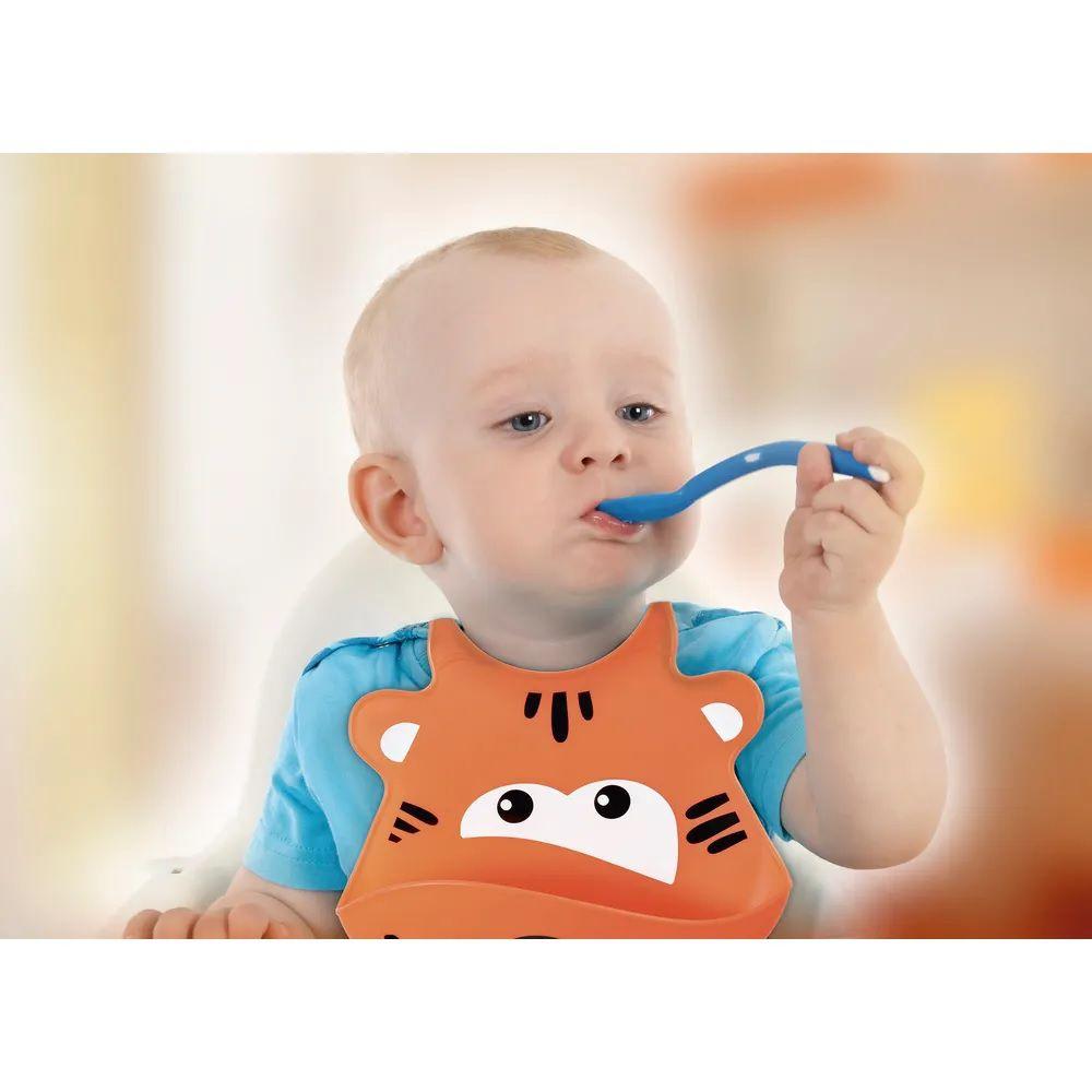 Babador de Silicone de Bebe Impermeável Leão - Multikids