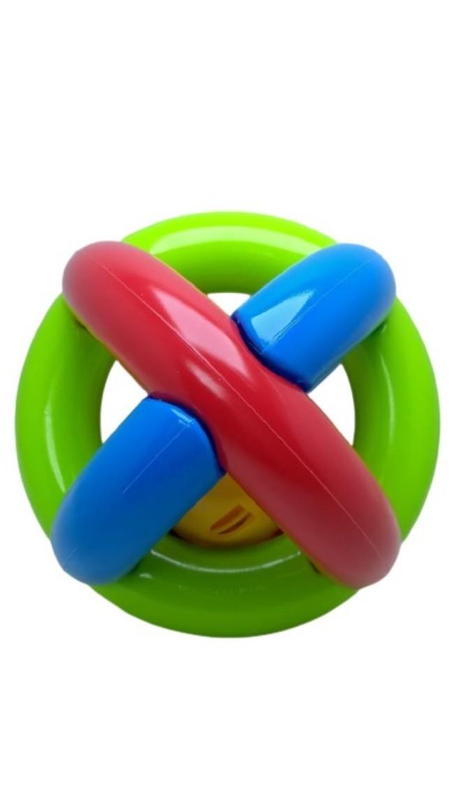Bola Maluquinha Com Chocalho para Bebê - Mercotoys