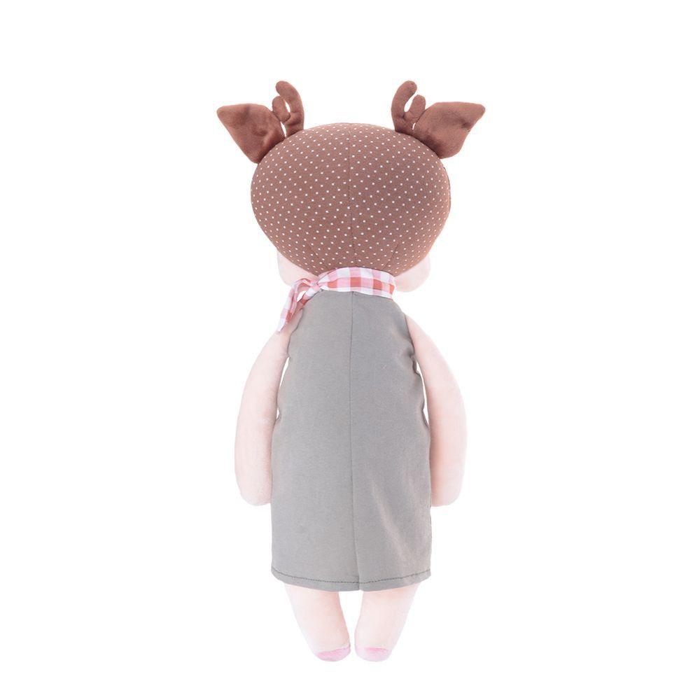 Boneca Metoo Angela Doceira Deer Marrom 33 cm - Original