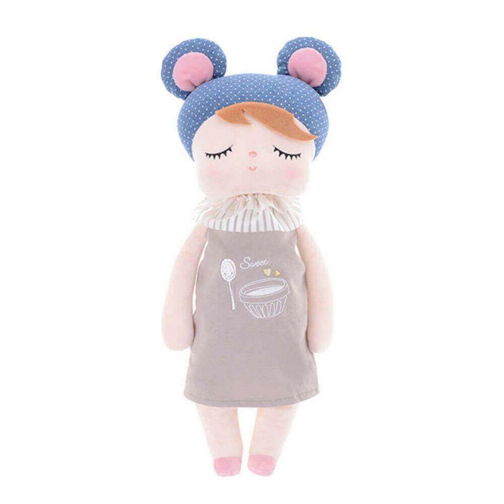 Boneca Metoo Angela Doceira Retro Bear Azul Rosa 33 cm - Original
