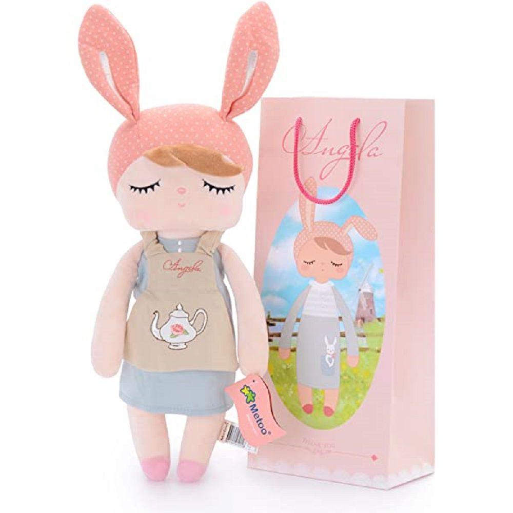 Boneca Metoo Angela Doceira Retro Bunny Rosa 33 cm - Original
