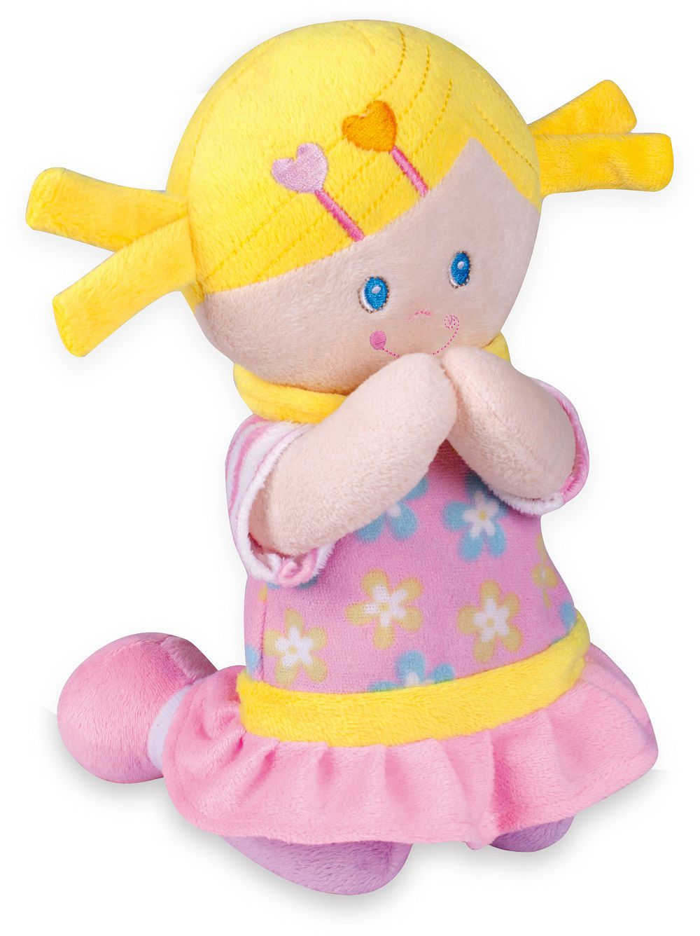 Boneca Pelúcia Menininha Reza o Pai-Nosso 24 cm - Buba Baby