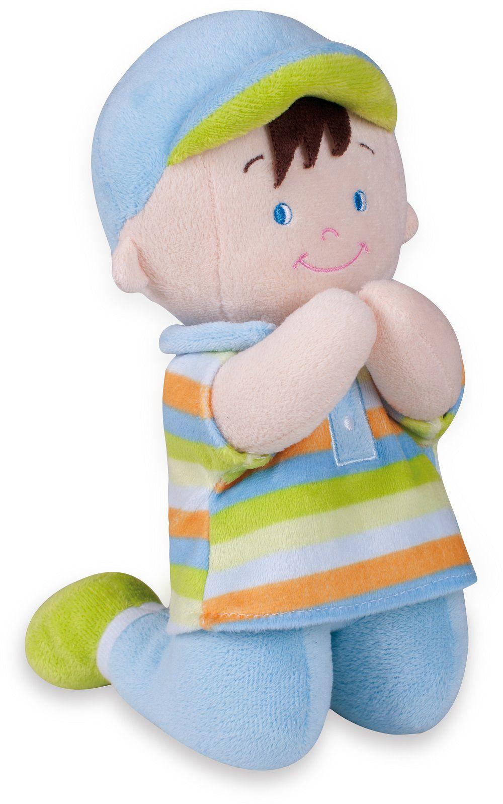 Boneco Pelúcia Menininho Reza o Pai-Nosso 24 cm - Buba Baby