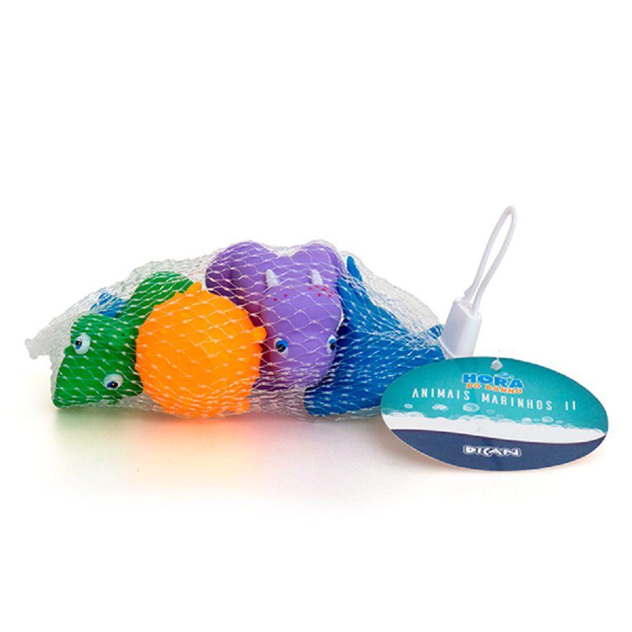 Brinquedos Para Banho Animais Marinhos II - Dican