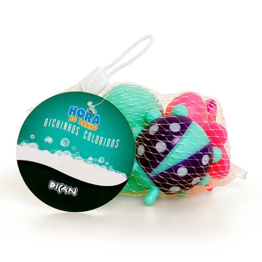 Brinquedos Para Banho Bichinhos Coloridos - Dican