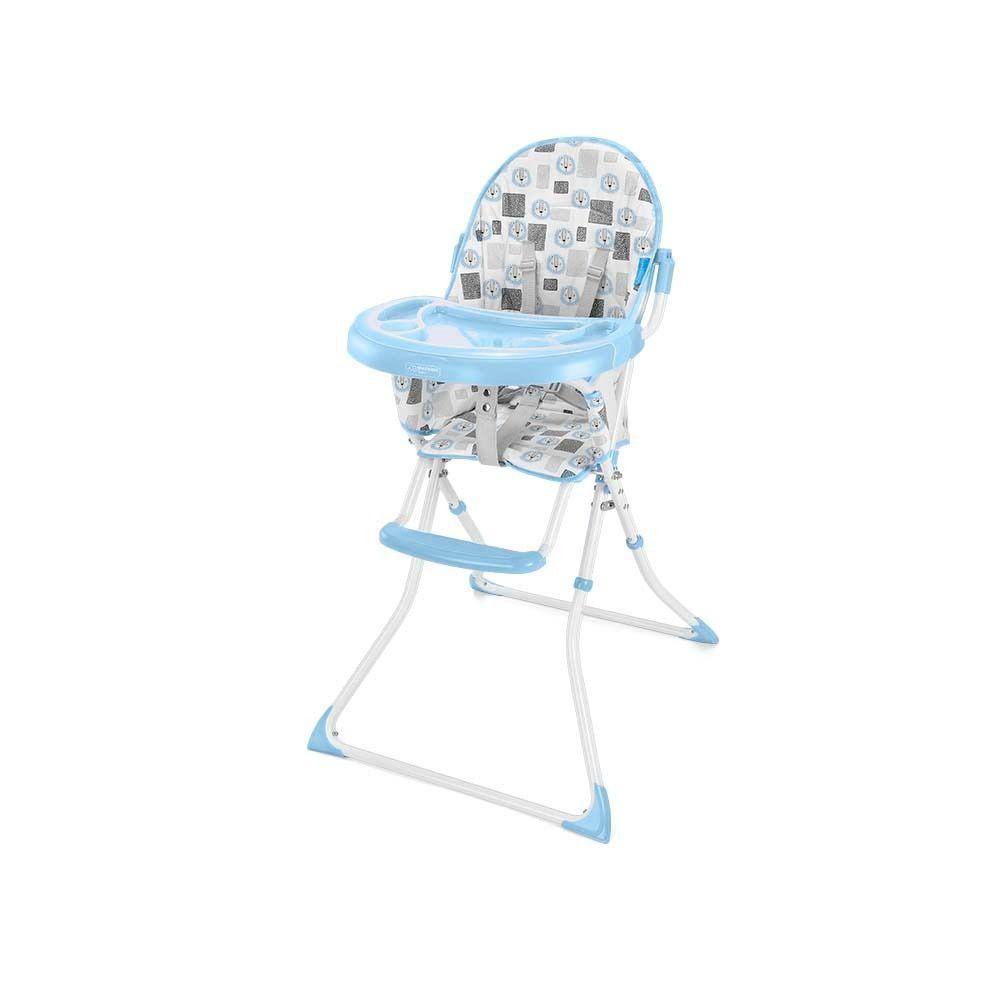 Cadeira de Alimentação Alta Slim Azul Leãozinho - Multikids