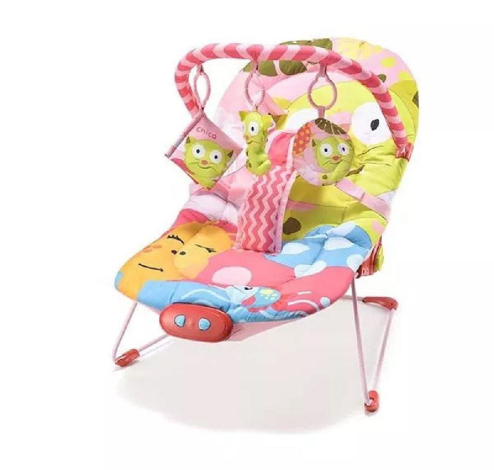 Cadeira de Descanso Bebe Musical Gato - Multikids Baby