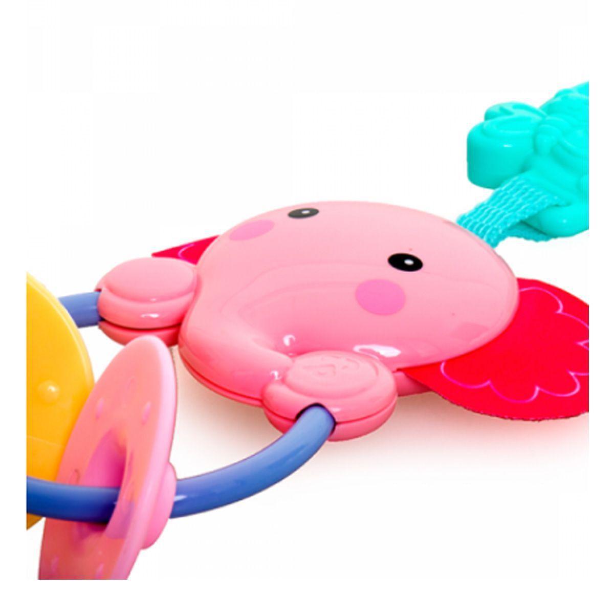 Chocalho Móbile Elefante Rosa - Dican