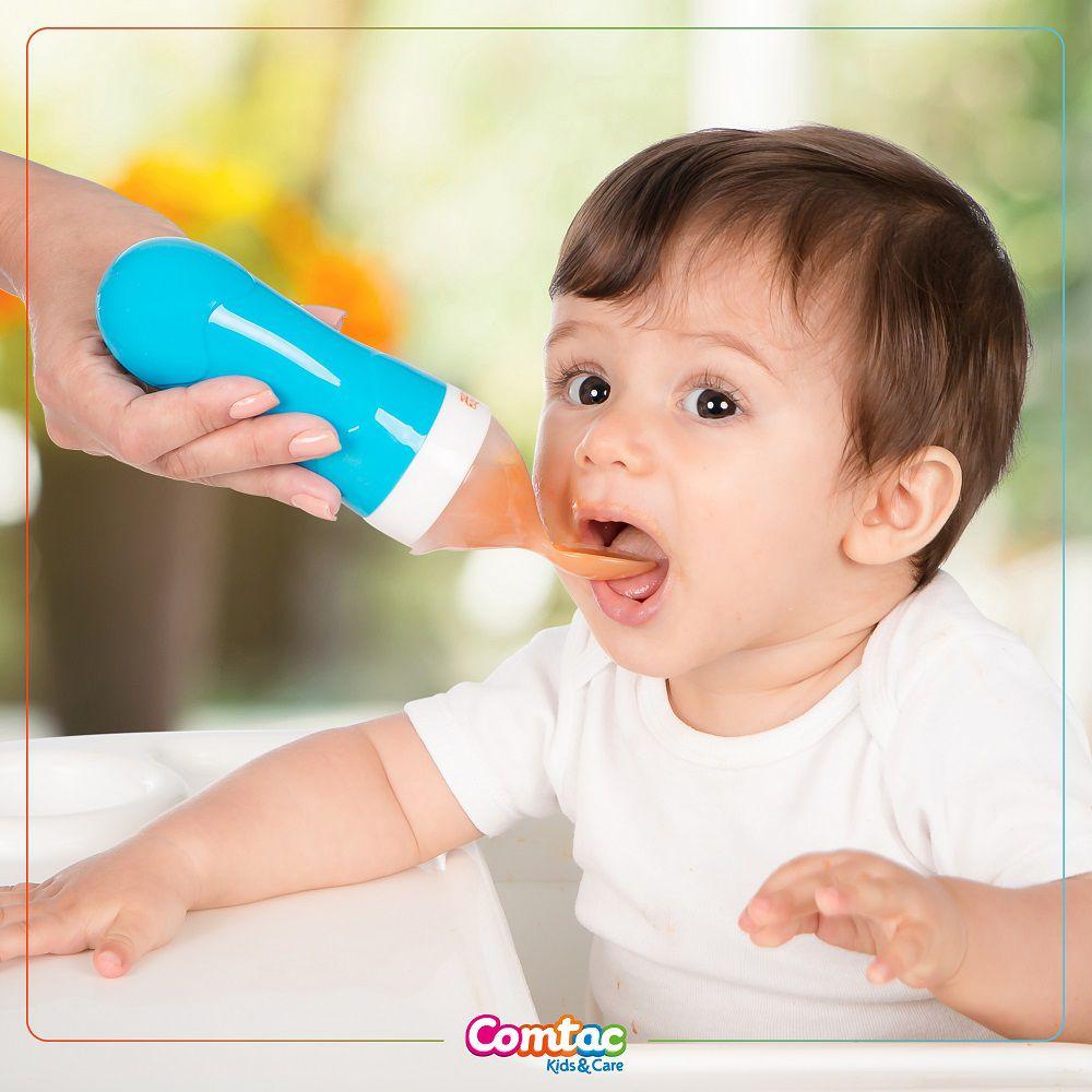 Colher Dosadora para Papinha de Bebê Azul - Comtac