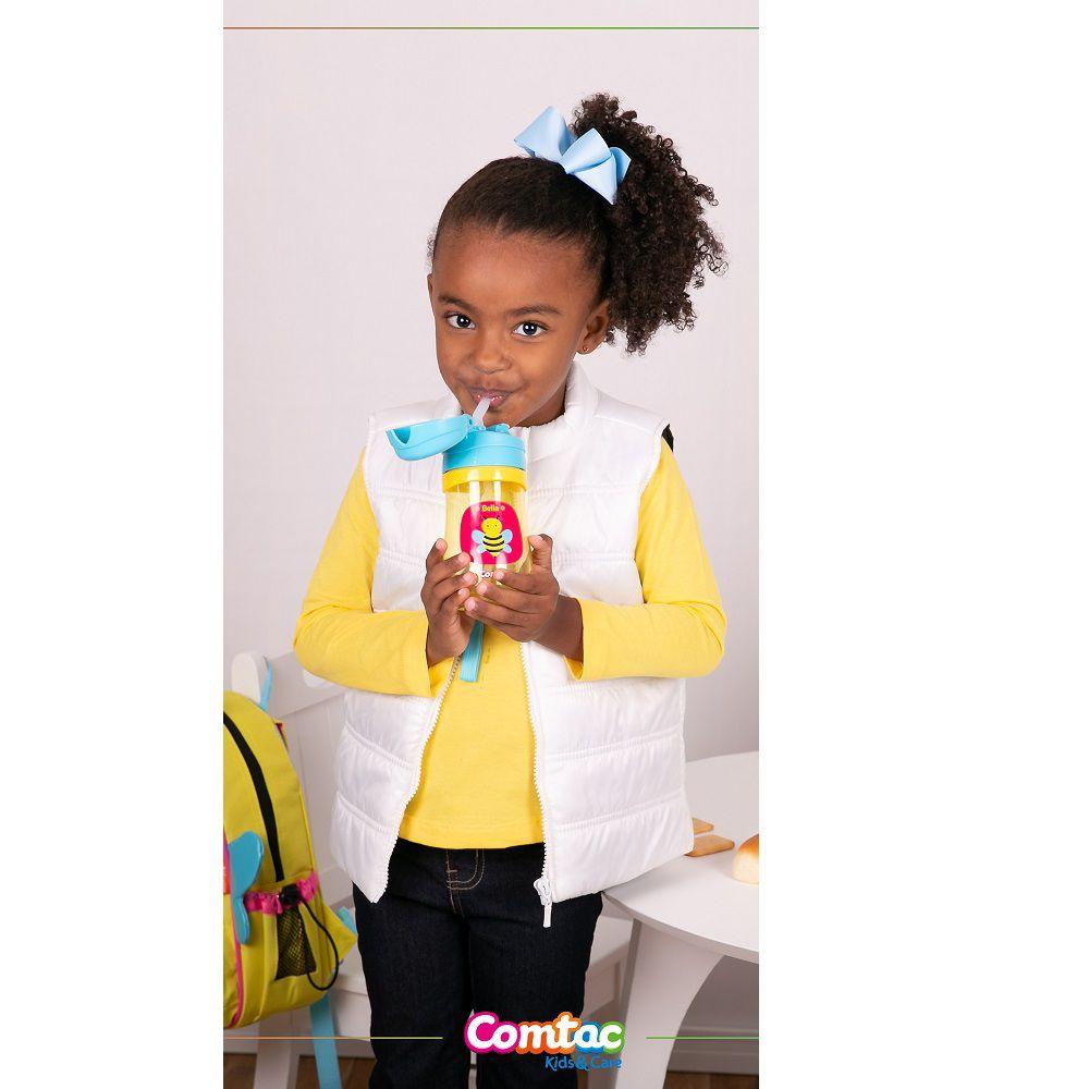 Copo Infantil com Canudo Antivazamento Abelhinha - Comtac