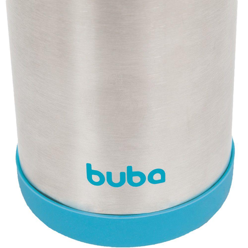 Garrafa Térmica Aço Inoxidável 400 ml Azul - Buba Baby