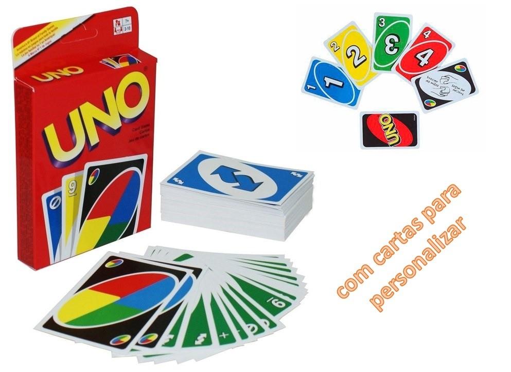 Jogo de Cartas UNO Com Cartas Para Personalizar - Copag