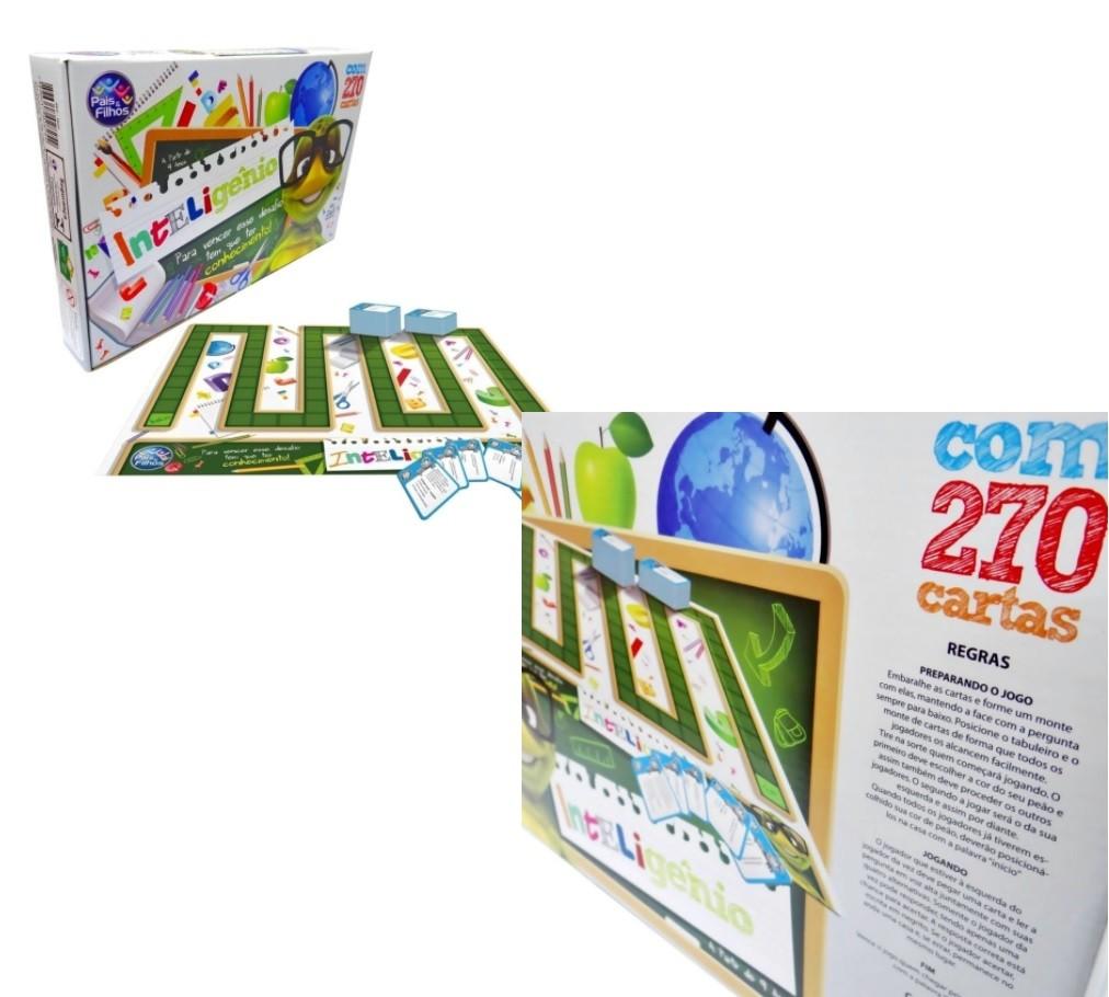 Jogo Educativo De Perguntas Inteligênio 270 Cartas - Pais & Filhos