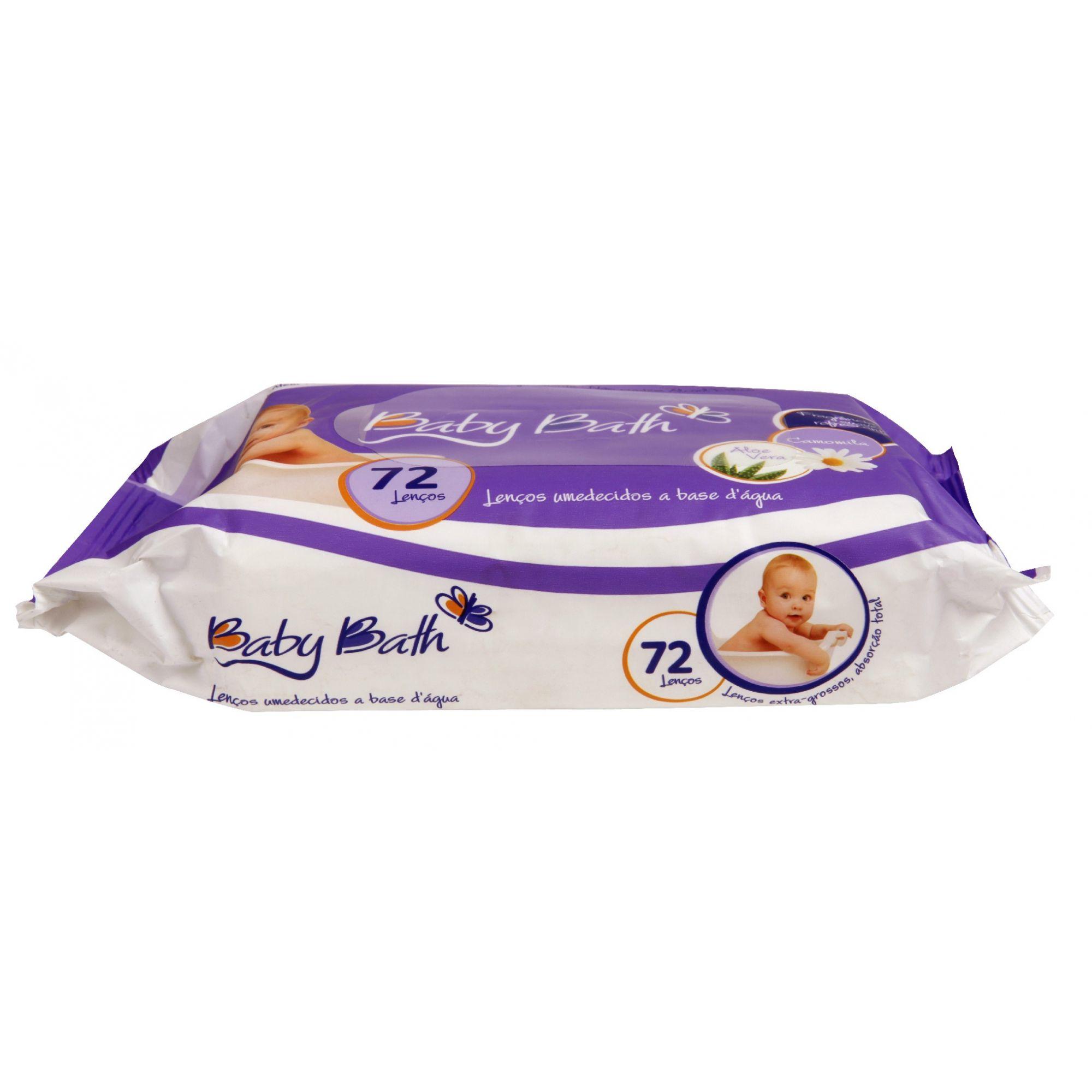 Kit Com 12 Pacotes De Lenços Umedecidos (864 un) - Baby Bath