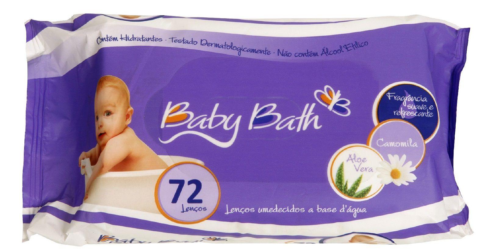 Lenços Umedecidos 72 Unidades - Baby Bath