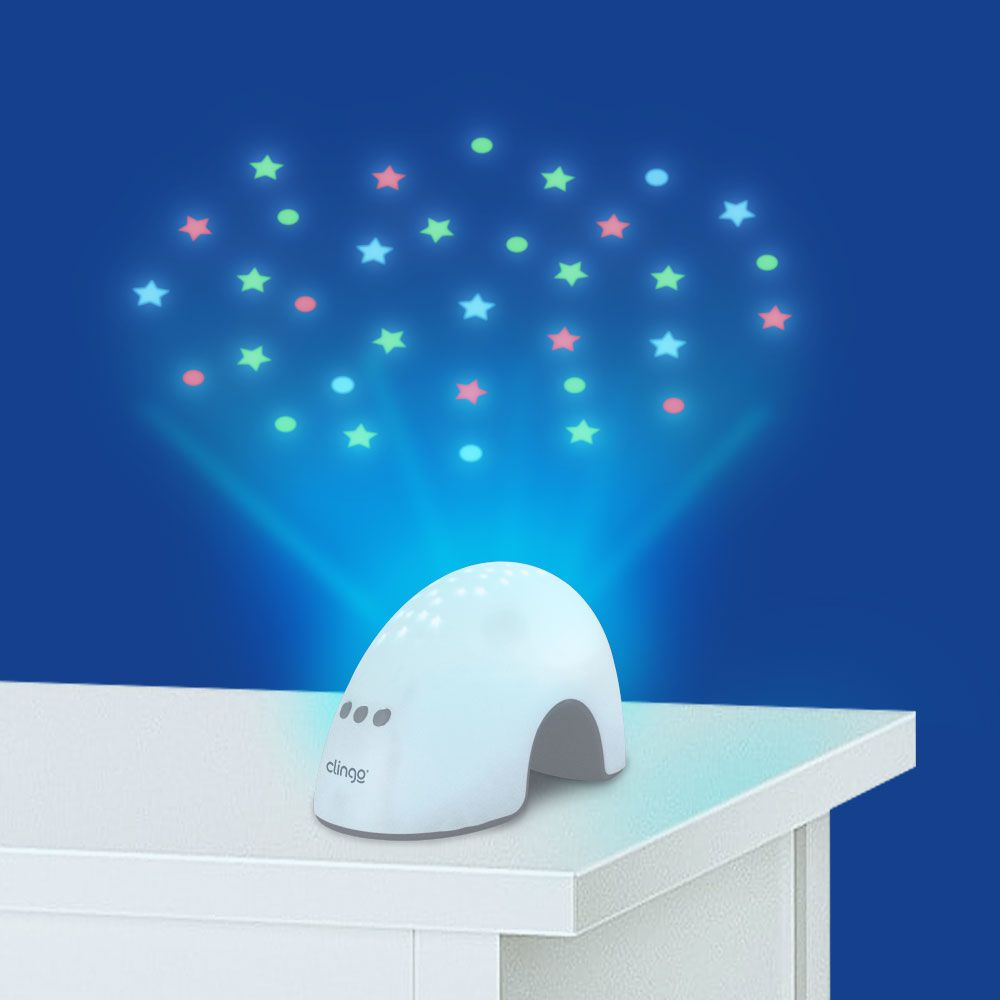 Luminária Infantil com Sons e Luzes Projetor Elefantinho - Clingo