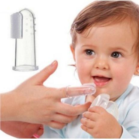 Massageador Escova Para Gengiva Com Estojo Rosa - Western Baby