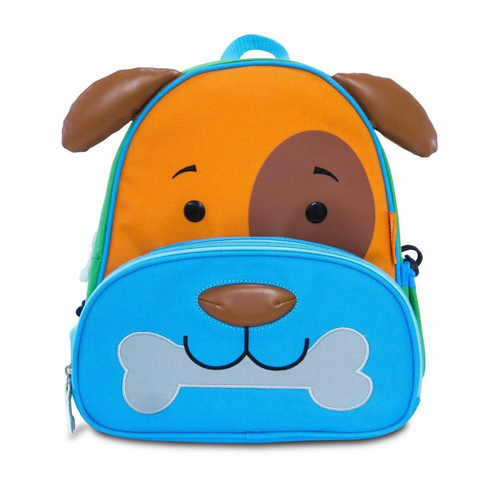 Mochila Infantil Animais Cachorro Linha Let's Go - Comtac Kids