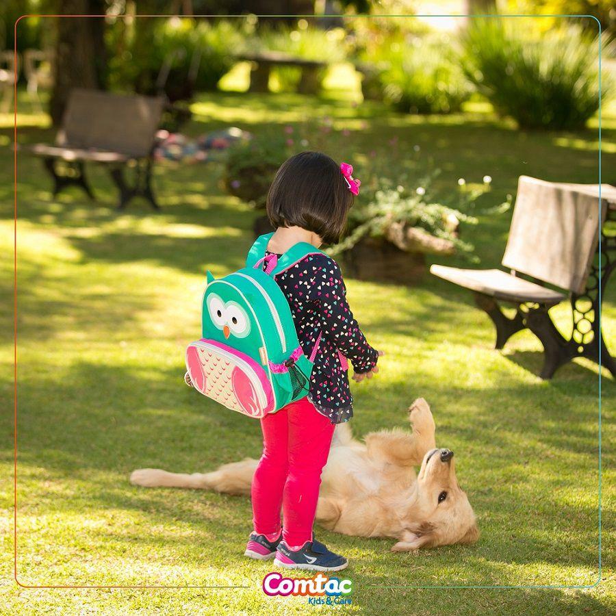 Mochila Infantil Animais Coruja Linha Let's Go - Comtac Kids