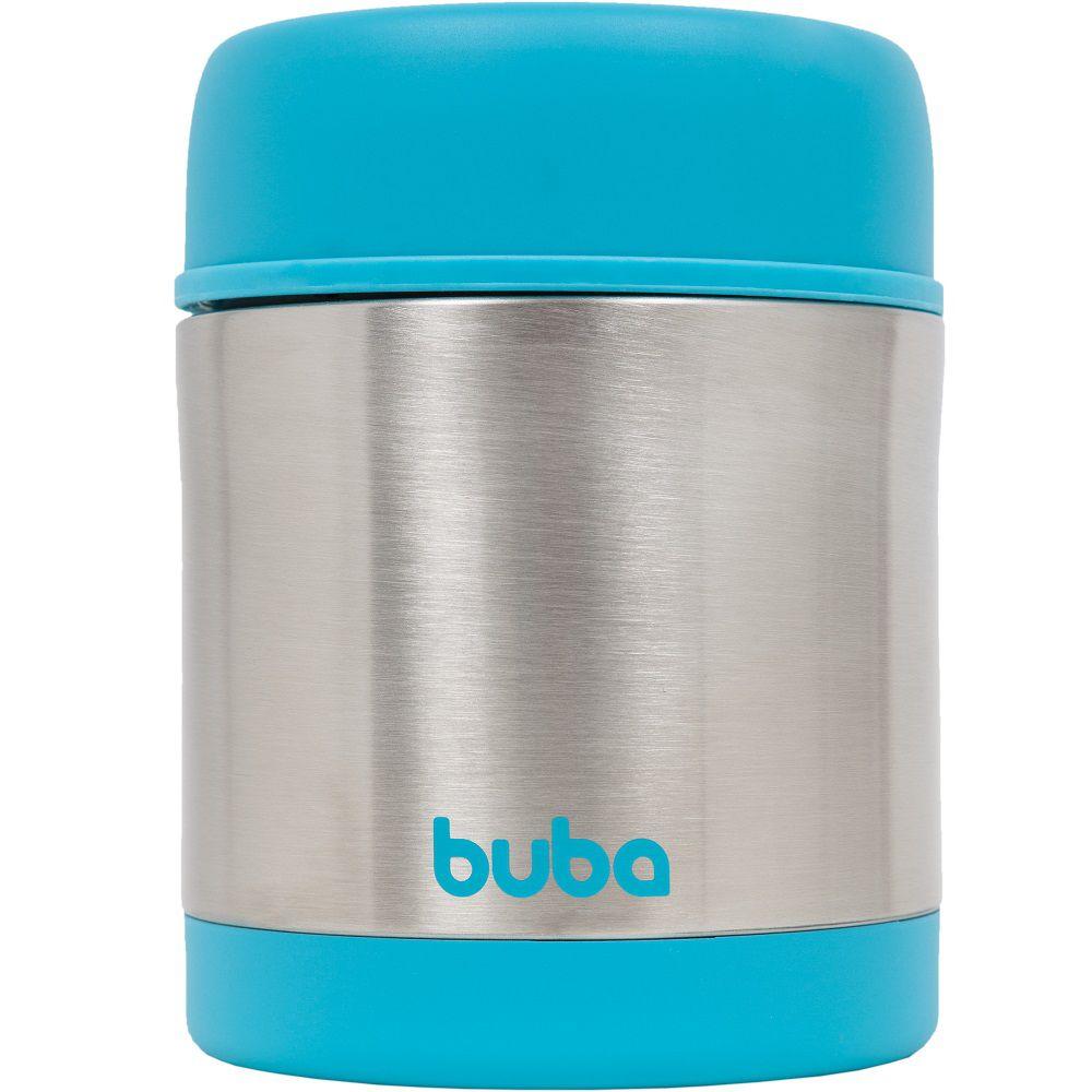 Pote Térmico Aço Inoxidável Azul - Buba Baby