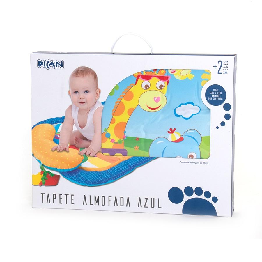 Tapete Almofada Para Bebê Azul - Dican
