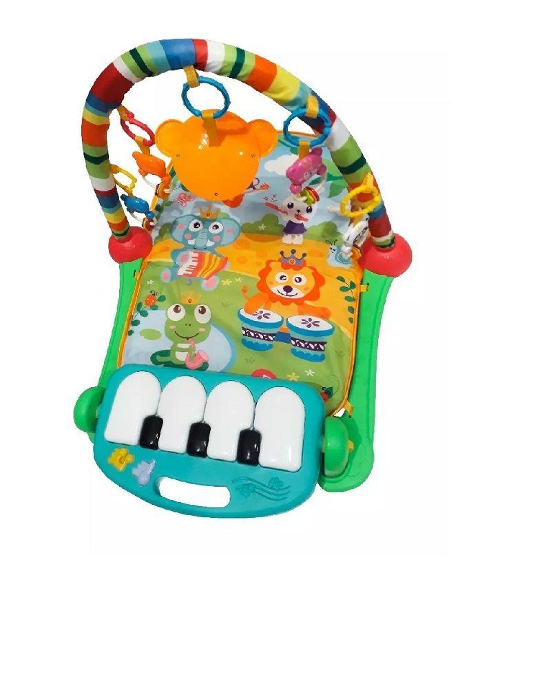 Tapete de Atividades Ginástica Piano Musical Happy Verde - Colorbaby