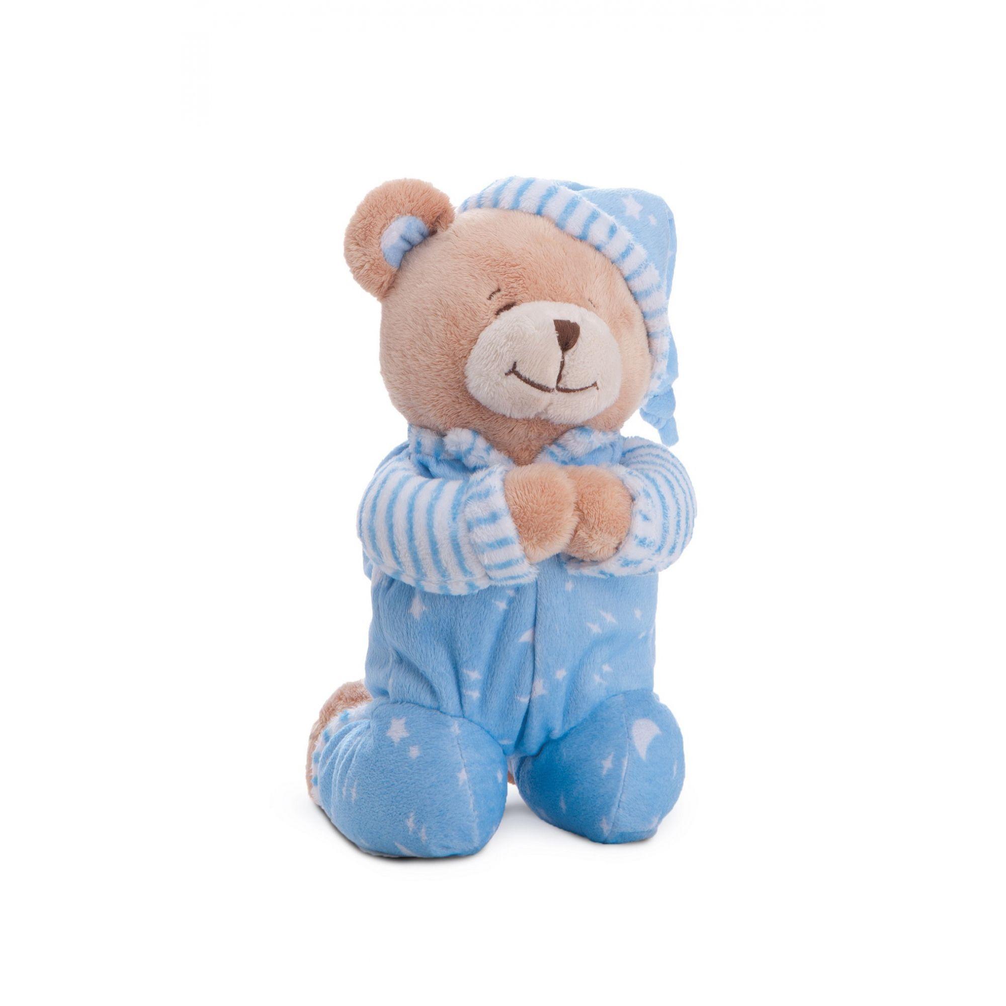 Ursinho Azul que Reza Oração do Anjo da Guarda - Buba Baby