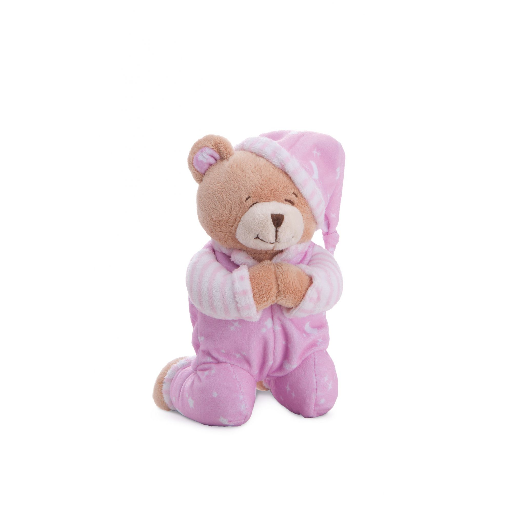 Ursinho Rosa que Reza Oração do Anjo da Guarda - Buba Baby