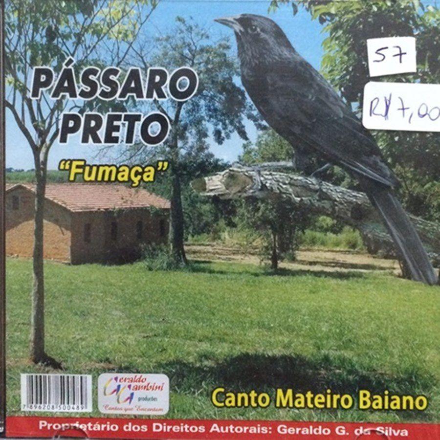 CD Passaro Preto Fumaça - Canto Mateiro Baiano