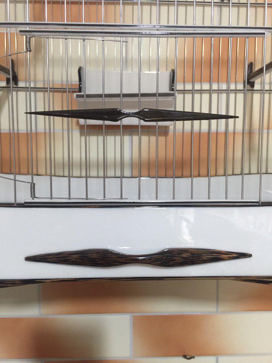 Gaiola Universo do Curio Acqua Marine N6 com Acabamento em Coqueiro - Série Luxo