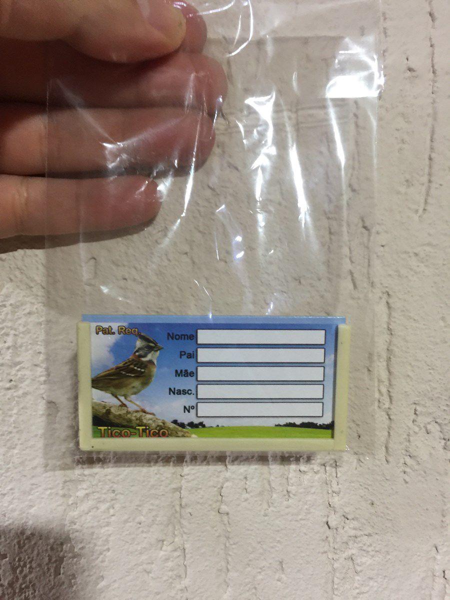Placa Identificação de Gaiolas - Tico Tico