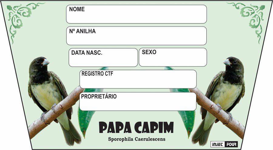 Placa Luxo Papa Capim - 527PC