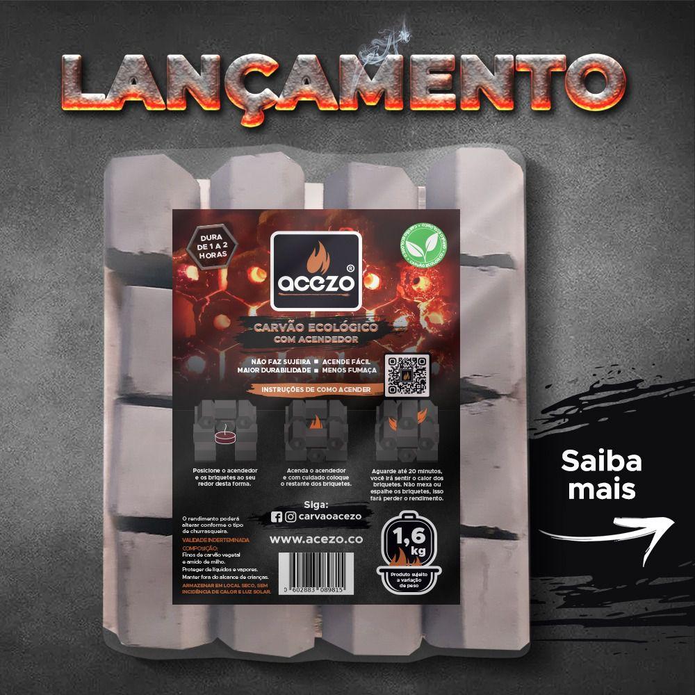 Bandeja Acezo 1.6 kg c/ acendedor  - Chitao Store