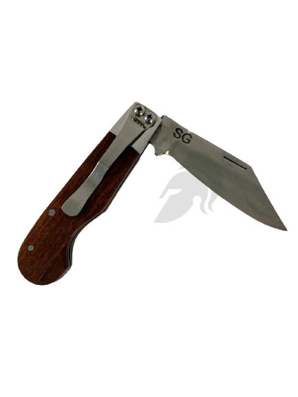 Canivete Aço Inox Cabo de Madeira SG