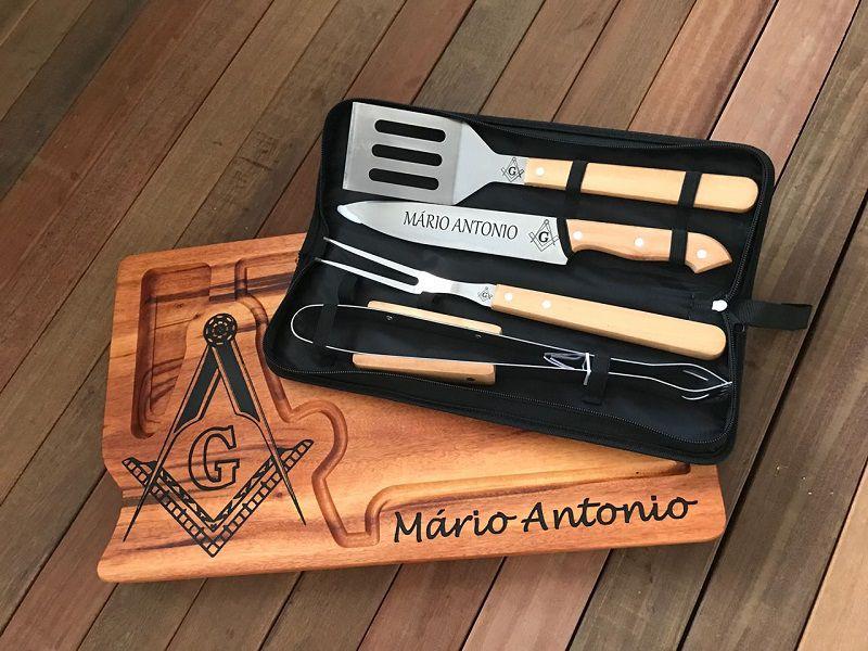 85ba0cc34975cb Kit churrasqueiro Maçonaria