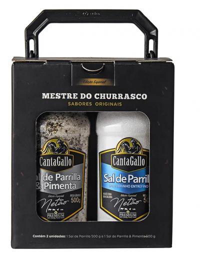 Kit Netão Sal de Parrilla & Pimenta + Sal de Parrilla Cantagallo