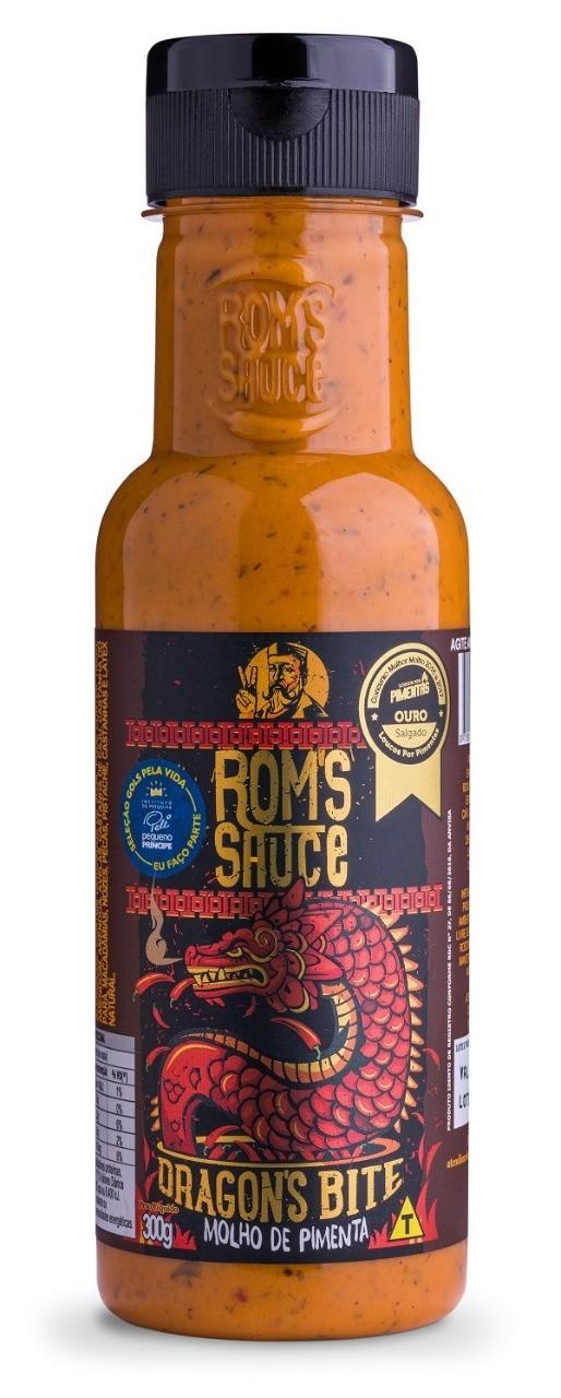 Molho de Pimenta com Especiarias Dragons Bite Roms Sauce