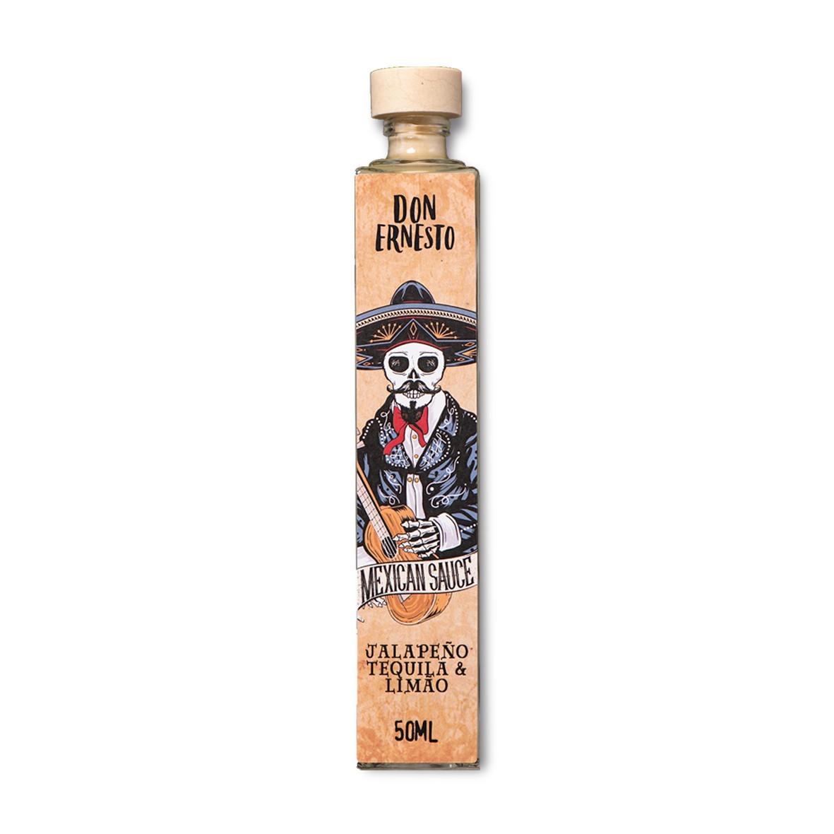 Molho de Pimenta Jalapeño com Tequila e Limão Don Ernesto